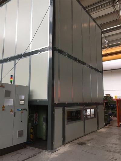 cabine insonorizzanti per grandi macchinari industriali